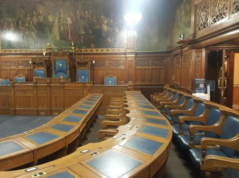 Should there be fewer seats in the council chamber?