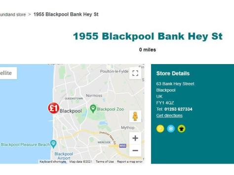 The Poundland website still lists it as one of its shops despite a spokesman advising it has been closed for around a year