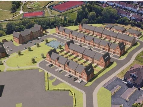 Artists impression of new homes