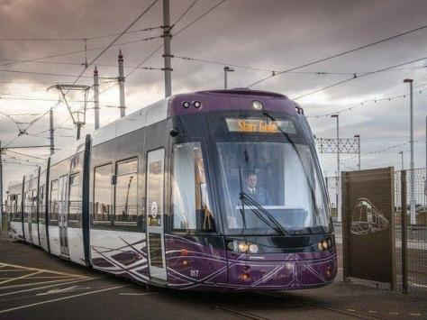 A Blackpool Transport tram conductor had cuts and bruises on his face after he was attacked by a passenger in Cleveleys.