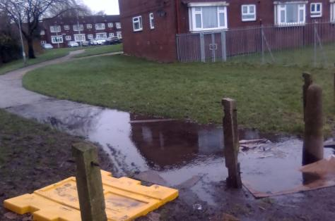 How the path looked after heavy rain