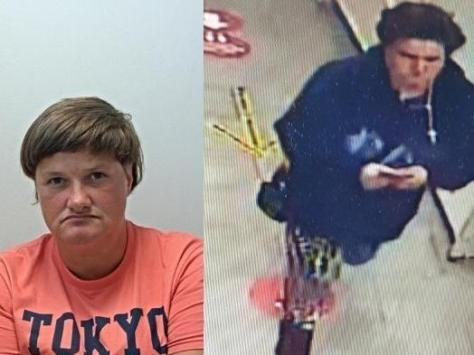 Naomi Lee, 40, from Blackpool, was last seen at the Post Office in Theatre Street, Preston (pictured on CCTV) on Tuesday, September 21
