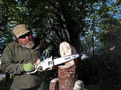 James Sheliker of Acorn Woodcraft at work