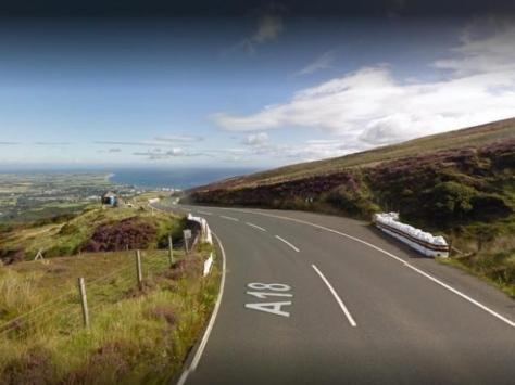 The fatal crash happened on Monday near Guthrie's Memorial - the highest section of the Isle of Man's Snaefell Mountain Course, used for motorsport racing (Picture: Google)