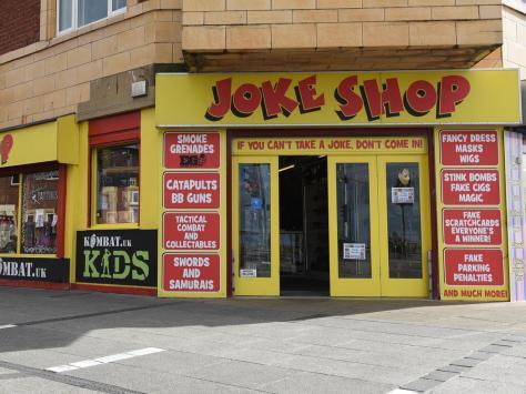The Joke Shop on Waterloo Road/Blackpool Promenade