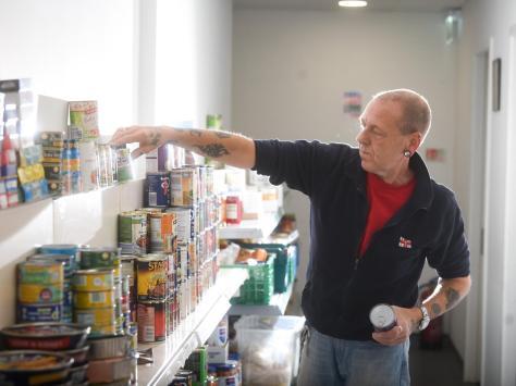 Allan MacFarlane, volunteer at The Pantry.  Pic: Daniel Martino/JPI Media