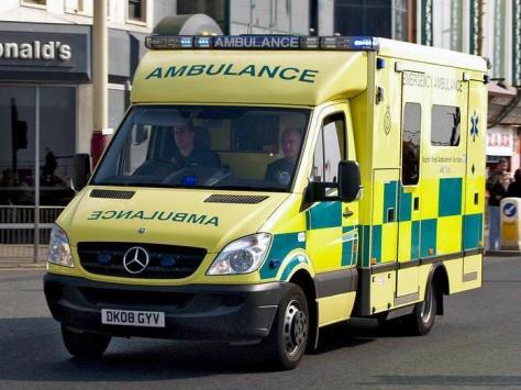 A woman was taken to hospital after a car collided into a home in Beryl Avenue, Cleveleys.