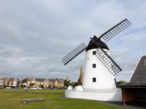 Lytham Windmill with its damaged sail now removed.