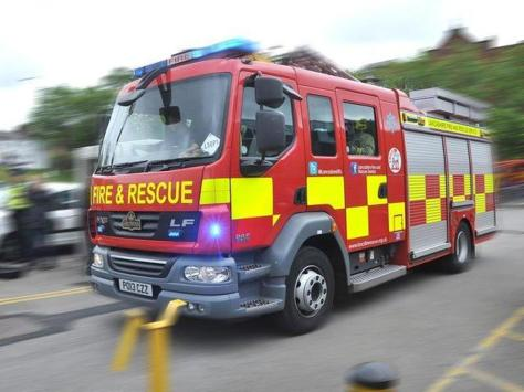 Firefighters rushed to extinguish an outbuilding that went up in flames in Elaine Avenue, Blackpool.