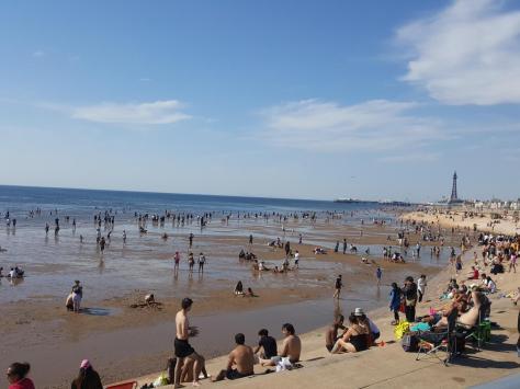 Busy Blackpool beach