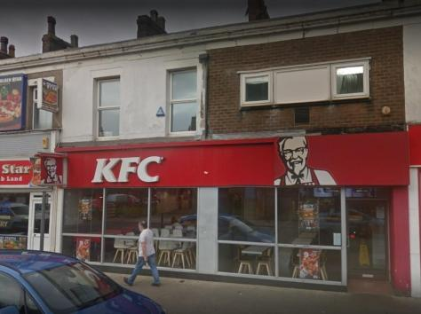 The KFC in Lord Street, Fleetwood is about to undergo a refit and has been giving away its old tables and chairs for for free on Facebook Marketplace. Pic: Google