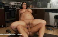 BBW PORNSTAR CARMELLA BING FUCKED IN THE KITCHEN