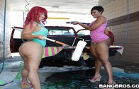 BANGBROS PRESENTS AT THE CAR WASH – CHEROKEE D'ASS & PINKY XXX!