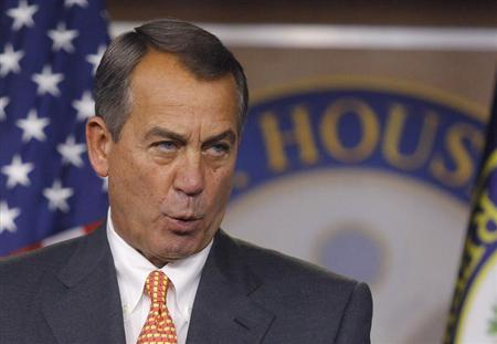 House Speaker Boehner holds a news conference at the U.S. Capitol in Washington