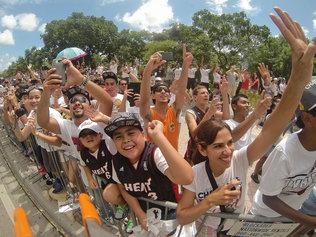The Miami Heat Championship parade on Monday, June 24th, 2013.
