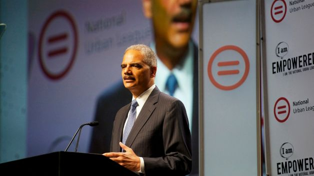 Eric Holder Speaking to Urban League