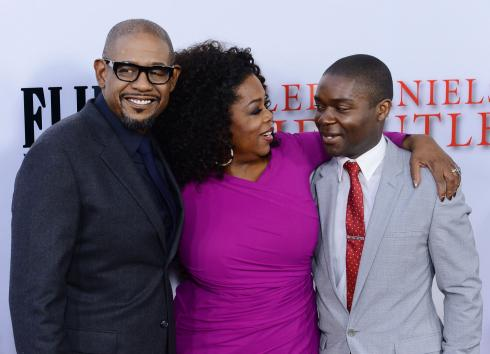 """Cast members Forest Whitaker, Oprah Winfrey and David Oyelowo (L-R) attend the premiere of Lee Daniels' motion picture biographical drama """"The Butler"""" at Regal Cinemas at L.A. Live Stadium 14 in Los Angeles on August 12, 2013. """"The Butler"""" tells the story of an African-American's eyewitness accounts of notable events of the 20th century during his tenure as a White House butler. UPI/Jim Ruymen"""