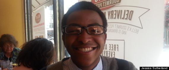 Homeless teen James Ward prior to enrolling at Howard University
