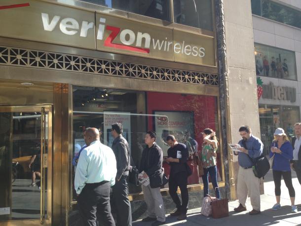 Verizon iPhone line