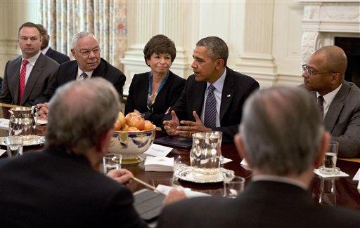 Barack Obama, Valerie Jarret, Colin Powell