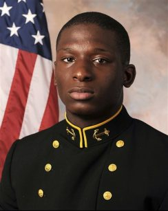 This July, 24, 2013 file photo provided by the U.S. Naval Academy, shows Midshipman Joshua Tate, of Nashville, Tenn. (AP Photo/U.S. Naval Academy, File)