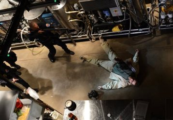 """This file image released by AMC shows Bryan Cranston, as Walter White, in the final scene from """"Breaking Bad.""""  TV viewers increasingly are watching programs on their own schedule, according to a Nielsen company media study released Monday, Feb. 10, 2014. (AP Photo/AMC, Ursula Coyote, File)"""