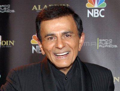 In this Oct. 27, 2003 file photo, Casey Kasem poses for photographers after receiving the Radio Icon award during The 2003 Radio Music Awards at the Aladdin Resort and Casino in Las Vegas. (AP Photo/Eric Jamison, File)