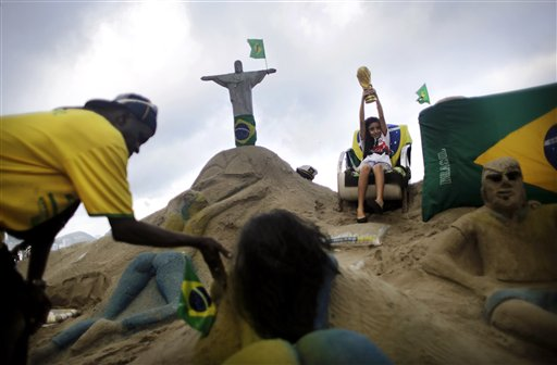 Brazil Soccer WCup Daily Life