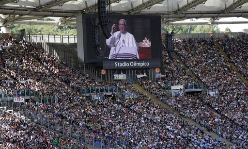 Italy WCup Pope's Message