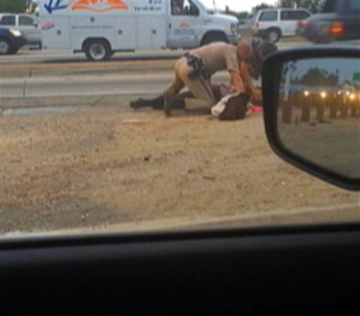 Highway Patrol Woman Punched