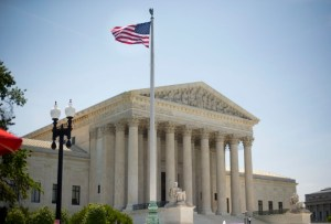 The Supreme Court building in Washington, Monday, June 30, 2014, following various court decisions. (AP Photo/Pablo Martinez Monsivais)