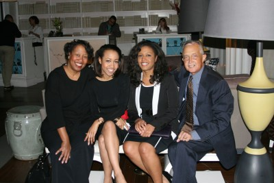 Everett Lee (right) with his wife and daughters in 2012. Lee's leukemia has been in remission 12 years, thanks to a bone marrow transplant. (Courtesy of Everett Lee)
