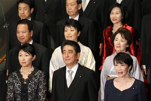 Shinzo Abe, Yuko Obuchi, Takaichi Sanae, Haruko Arimura, Eriko Yamatani, Midori Matsushima