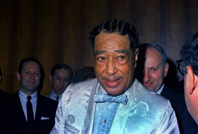 This June 1968 file photo shows big band leader Duke Ellington. Ellington's grandson is urging New York's highest court to reinstate his lawsuit against publisher EMI seeking half the foreign royalties from Ellington's music for his heirs. The suit against publisher EMI alleges breach of the 1961 standard songwriter royalty contract the late pianist, bandleader and composer signed with Mills Music, predecessor of EMI, which is now part of global Sony/ATV Music Publishing. (AP Photo, file)