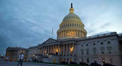 A view of the U.S. Capitol building on Tuesday, Oct. 15, 2013 in Washington. (AP Photo/ Evan Vucci)