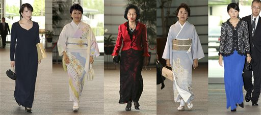 Sanae Takaichi, Haruko Arimura, Midori Matsushima, Eriko Yamatani, Yuko Obuchi