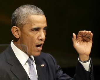 United States President Barack Obama speaks during the 69th session of the United Nations General Assembly at U.N. headquarters, Wednesday, Sept. 24, 2014. (AP Photo/Seth Wenig)