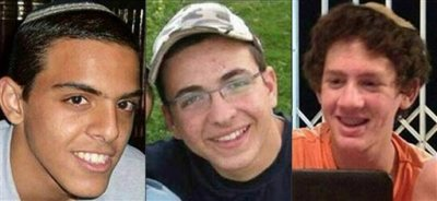 This combination of images released by the Israel Defense Forces shows Israeli teens Eyal Yifrah, 19, left, Gilad Shaar, 16, center, and 16-year-old with dual Israeli-American citizenship, Naftali Fraenkel. Israeli special forces stormed a West Bank hideout early on Tuesday, Sept. 23, 2014, and killed two Palestinians suspected in the June abduction and slaying of the three teenagers, a gruesome attack that had triggered a chain of events that led to the war in Gaza this summer. (AP Photo/Israel Defense Forces, File)