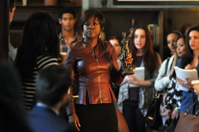 """This image released by ABC shows Viola Davis, center, from the series, """"How To Get Away With Murder,"""" premiering Sept. 30. """"How to Get Away with Murder,"""" is one of three series by Shonda Rhimes that will air on Thursdays.  (AP Photo/ABC, Nicole Rivelli)"""