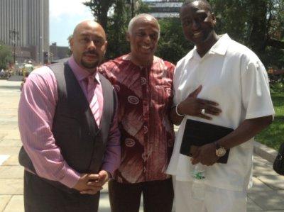 Raymond Santana, Charles Barron and Yusef Salaam (Courtesy of the New York Amsterdam News)