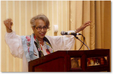 J. California Cooper (Photo Courtesy of National Book Club Conference founder Curtis Bunn)