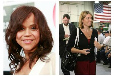 "Actress Rosie Perez, left, and Republican political operative Nicolle Wallace, right, are joining the cast of ABC's ""The VIew."" (Photo: Associated Press)"
