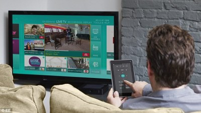Network operator EE has launched what it claims is the UK's 'most advanced TV service' that combines live and recorded programmes across TV sets, mobile and tablets (Courtesy of EE)