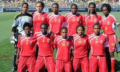 Equatorial Guinea's women's football team from 2010 (AP Photo)