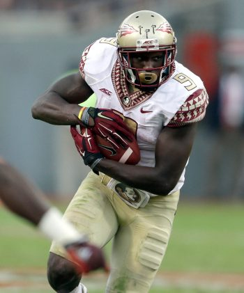 Karlos Williams's status with Florida State is under review amid a domestic battery case. (Gerry Broome/AP Photo)