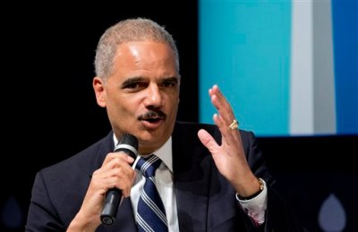"Attorney General Eric Holder speaks at the sixth annual ""Washington Ideas Forum"" in Washington, Wednesday, Oct. 29, 2014. (AP Photo/Manuel Balce Ceneta)"