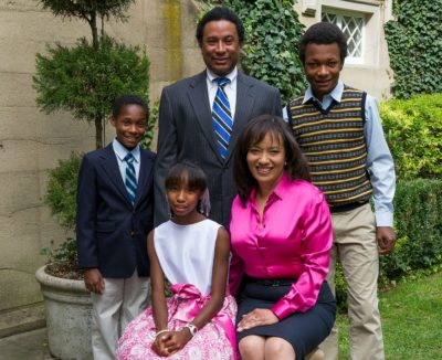 Lawrence Otis Graham and his family. (Photo by Christine Butler)