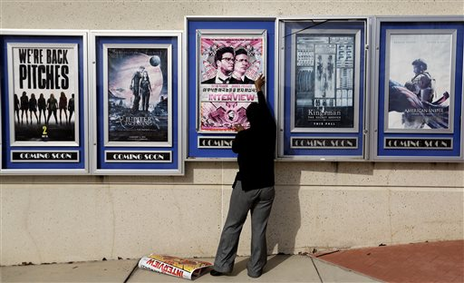 APTOPIX Sony Hack Theaters