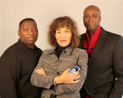 This undated handout photo shows creators of the Driving While Black app in Portland, Ore., from left, software developer James Pritchett, lawyers Mariann Hyland and Melvin Oden-Orr. Hyland and Oden-Orr plan to release the free app that educates people how to safely deal with police during traffic stops and will provide common sense advice to people of all races and outlines about their civil rights during a stop. (AP Photo/Driving While Black)