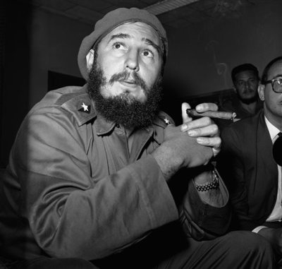 In this June 14, 1961 file photo, Prime Minister Fidel Castro holds a cigar during a news conference in Havana, Cuba. For over half a century, the U.S. government tried many schemes to overthrow the Castro regime: poisonous cigars, an exploding seashell, the secret Twitter-like service in Cuba. U.S. President Barack Obama said Wednesday, Dec. 17, 2014 the United States will re-establish diplomatic ties with Cuba and bring change to the longstanding trade embargo. But it was unclear if all secret operations would cease. (AP Photo/RHS)